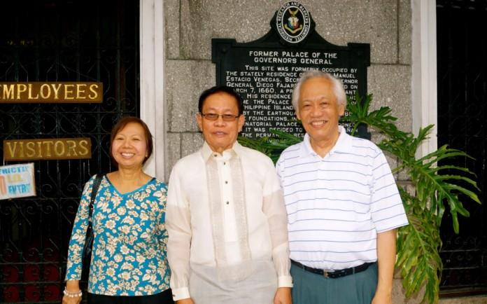 Samson S. Alcantara with Prof. Domondon and his wife