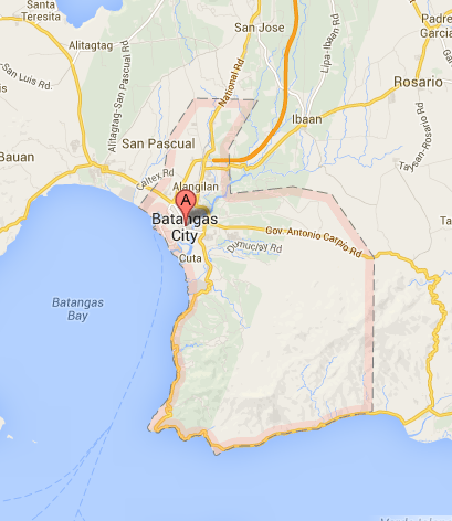 Map of Batangas City | Batangas City Barangay Elections 2013