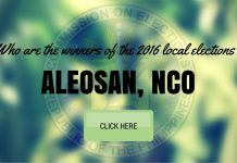 WINNERS: Aleosan, Cotabato Local Elections 2016 Results