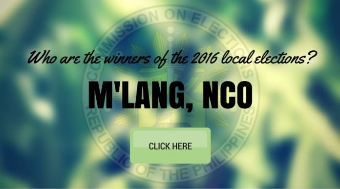 WINNERS: M'lang, Cotabato Local Elections 2016 Results
