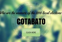 WINNERS: Cotabato Local Elections 2016 Results