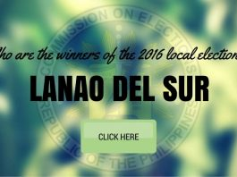 WINNERS: Lanao del Sur Local Elections 2016 Results